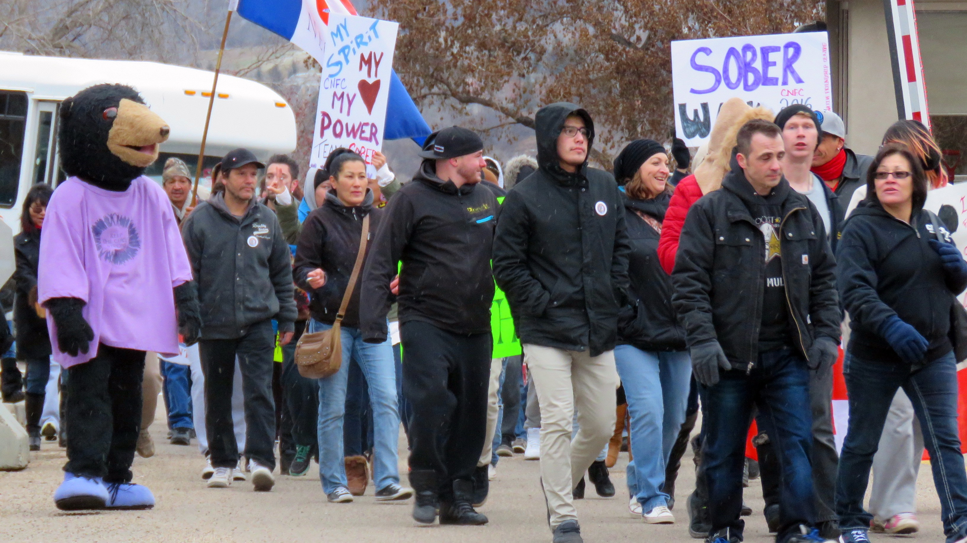 The cool November weather didn't stop the walkers from marching from Canada Place to the Alberta Legislature in Edmonton last month to celebrate National Addictions Awareness Week.
