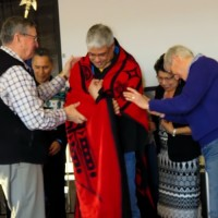 Harvey Succarro receives Amiskawciy Academy Honour Blanket